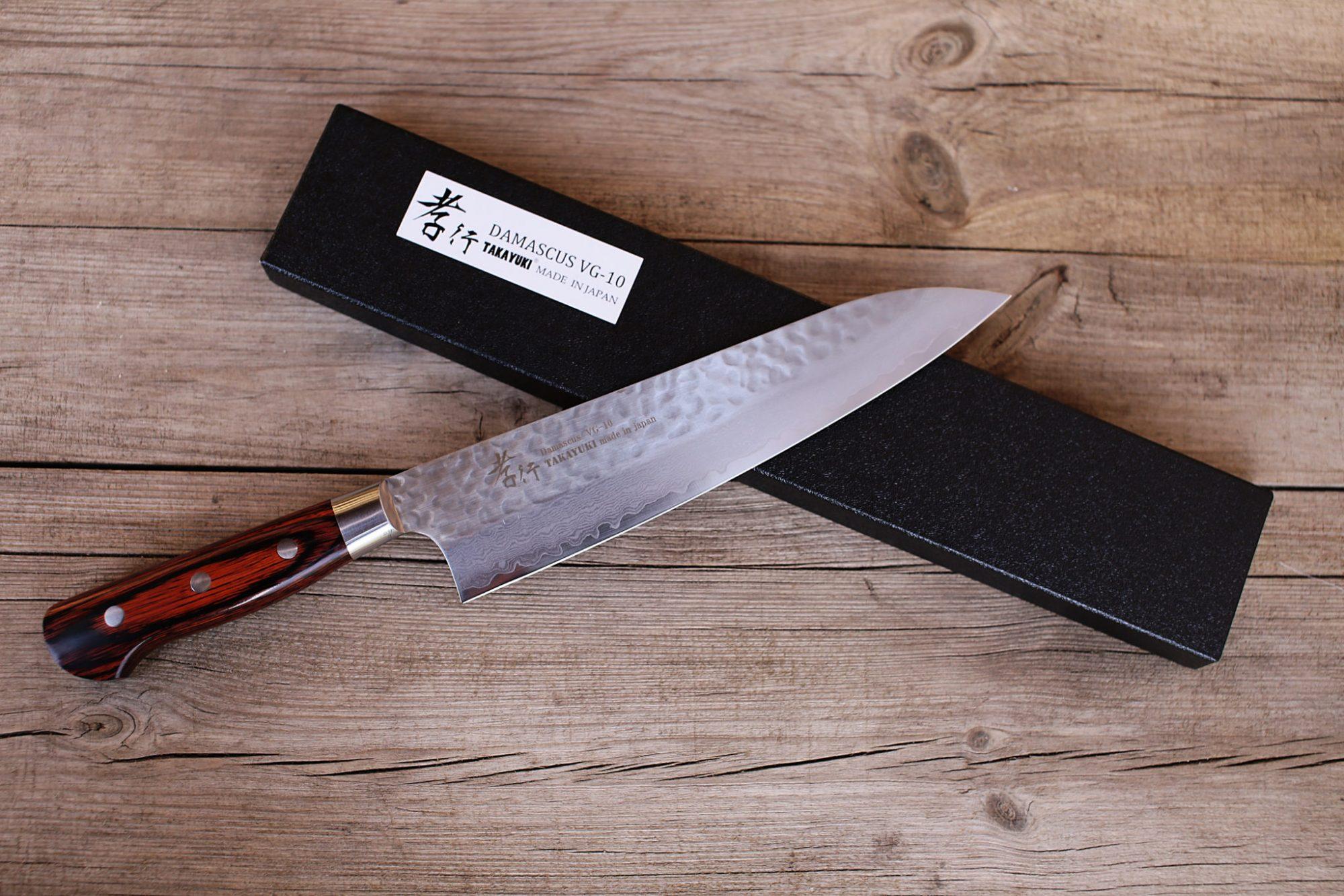 sakai takayuki 33 layer damascus gyuto 210mm vg 10 japanese sakai takayuki 33 layer damascus gyuto 240mm