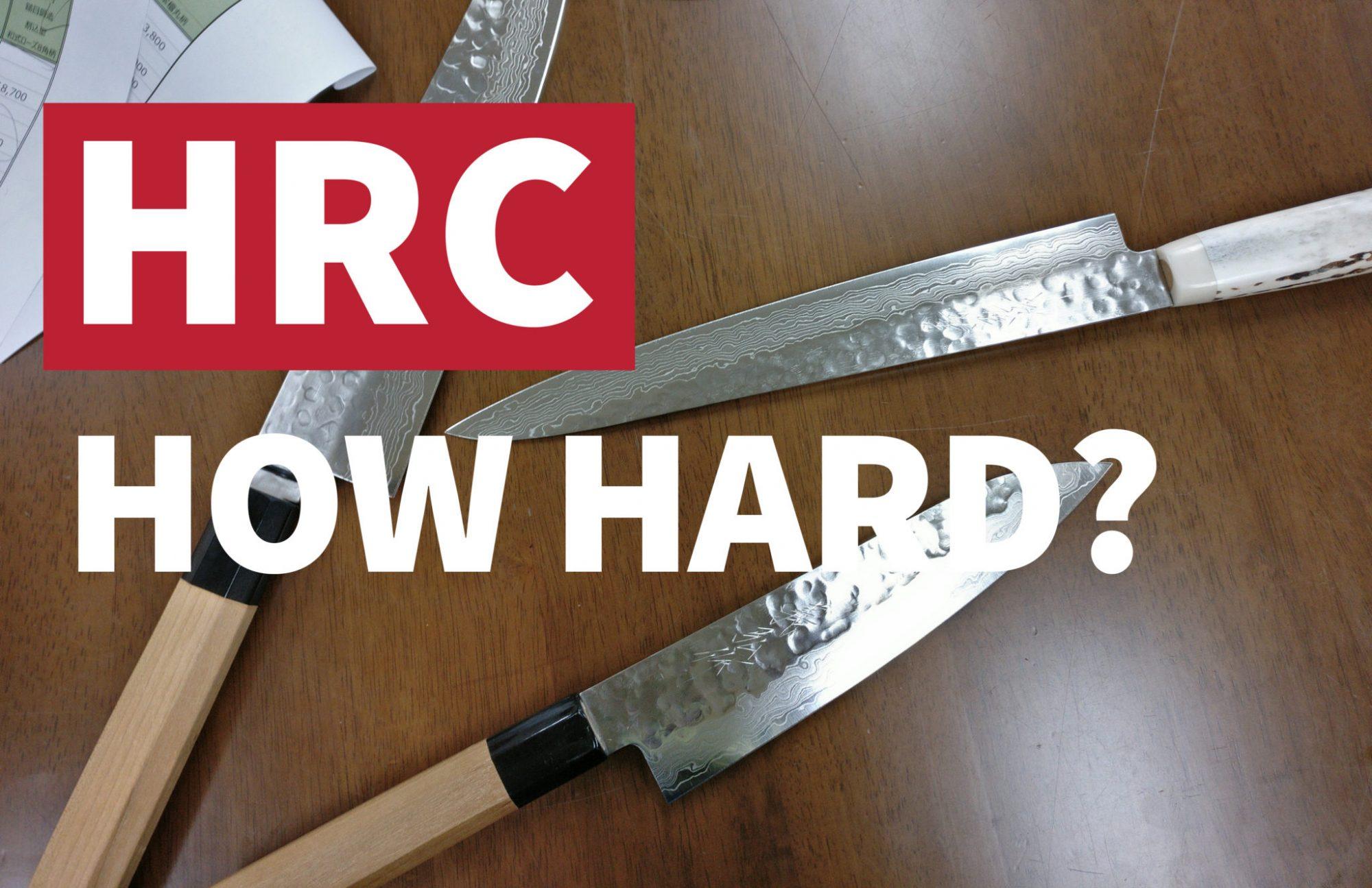 HRC rockwell hardness kitchen knives