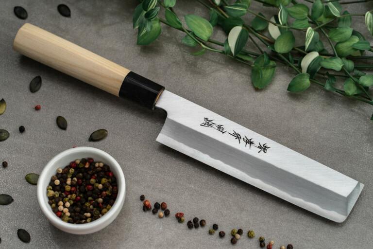 Sakai Takayuki Usuba 180mm Tokojou White Steel japanese kitchen knives