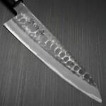 Japanese Mutsumi HinouraHammered White Shirogami Gyuto Chef Knife