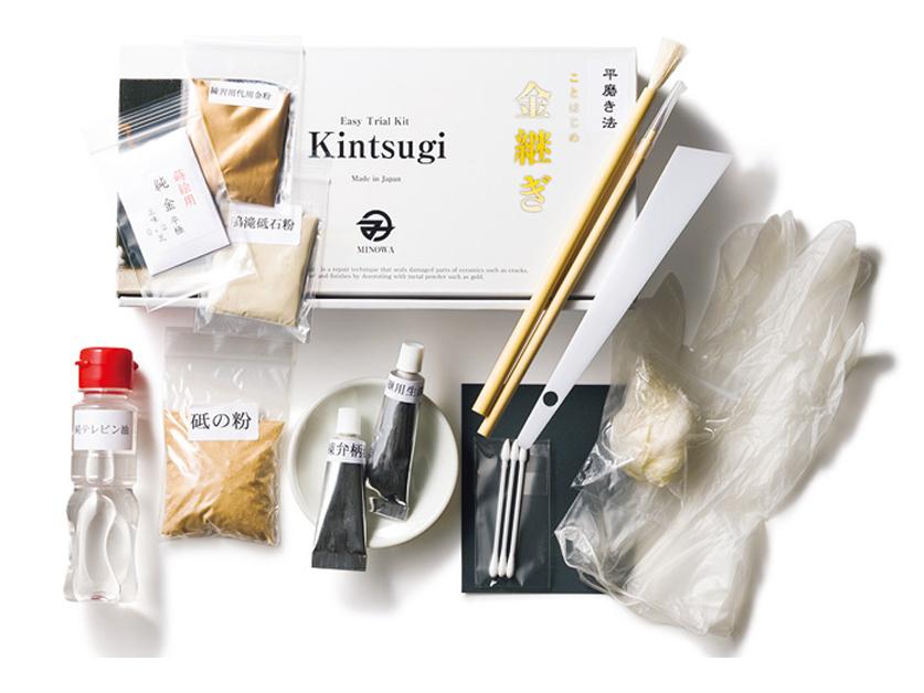 Minowa Japanese DYI Kintsugi Kit Ceramic Gold Repair Inc Real Gold