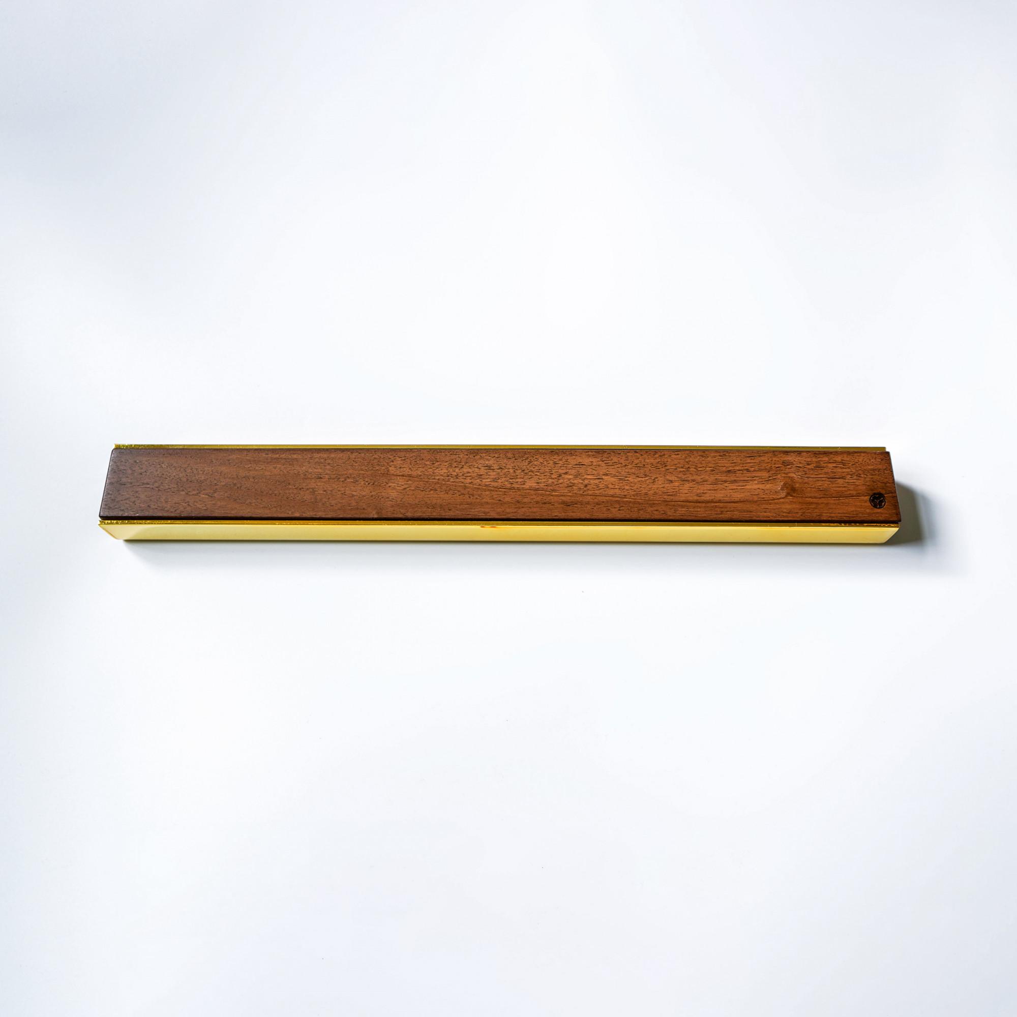 premium copper brass walnut oak knife magnetic strip rack 10