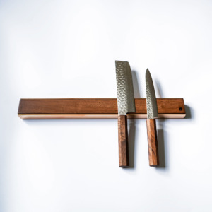 premium copper brass walnut oak knife magnetic strip rack 5