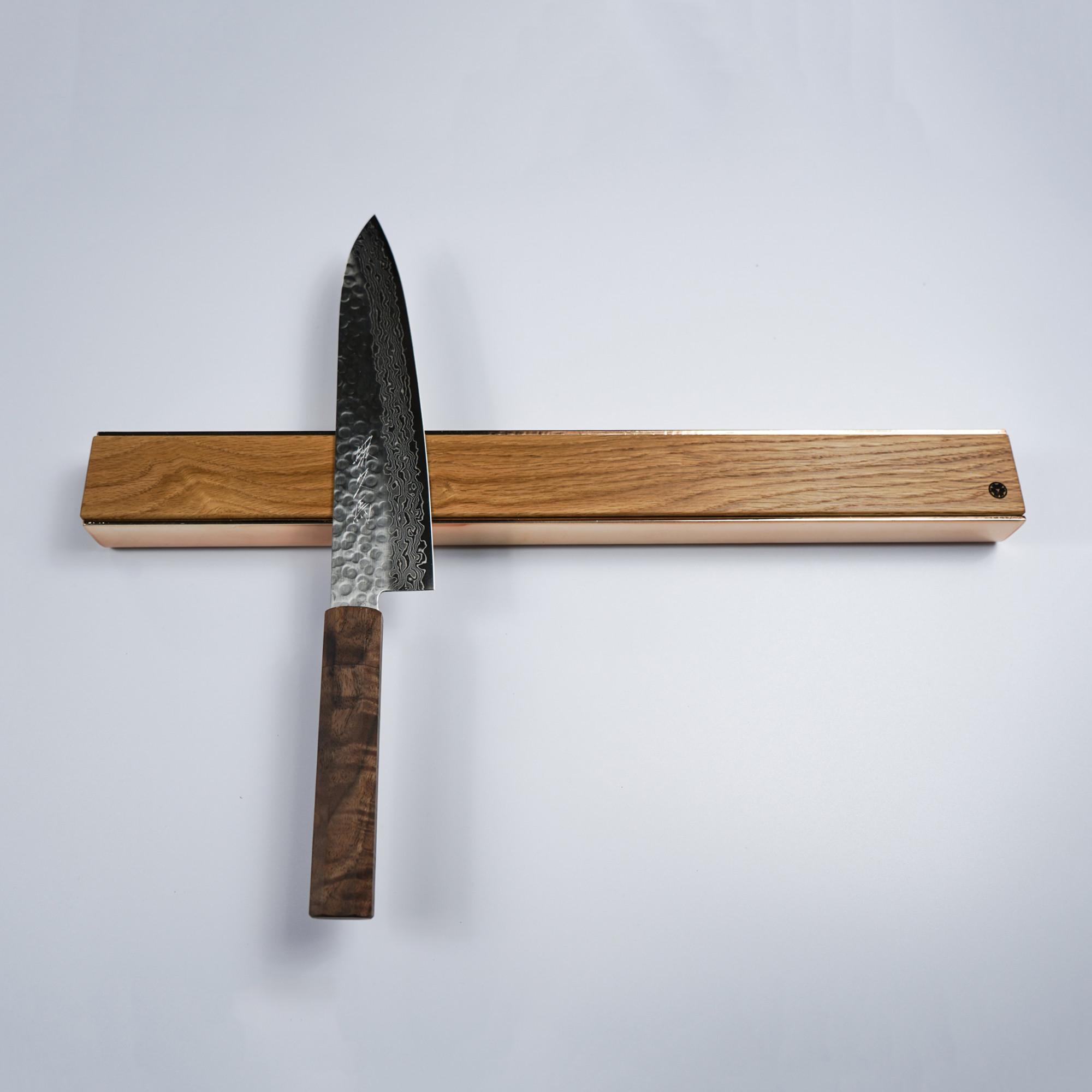 Magnetic Knife Rack Wood and Copper 18 oak walnut