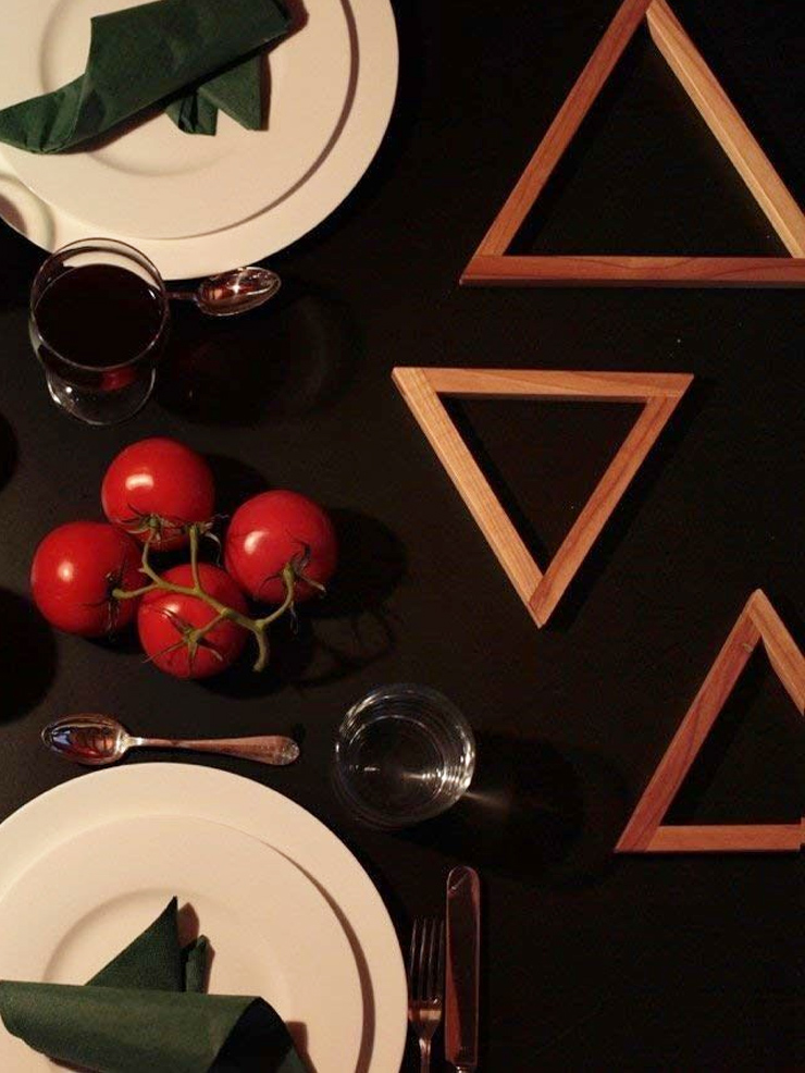 trivet oak dark walnut food stand wooden kitchen accessories