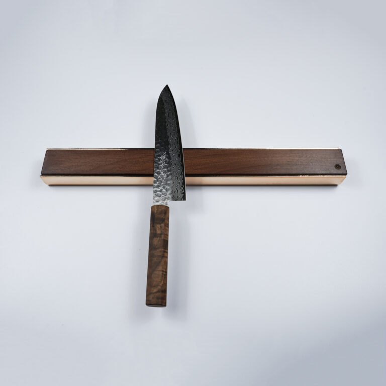 Wall Mounted Magnetic Wood Knife Rack Kitchen Premium oak walnut