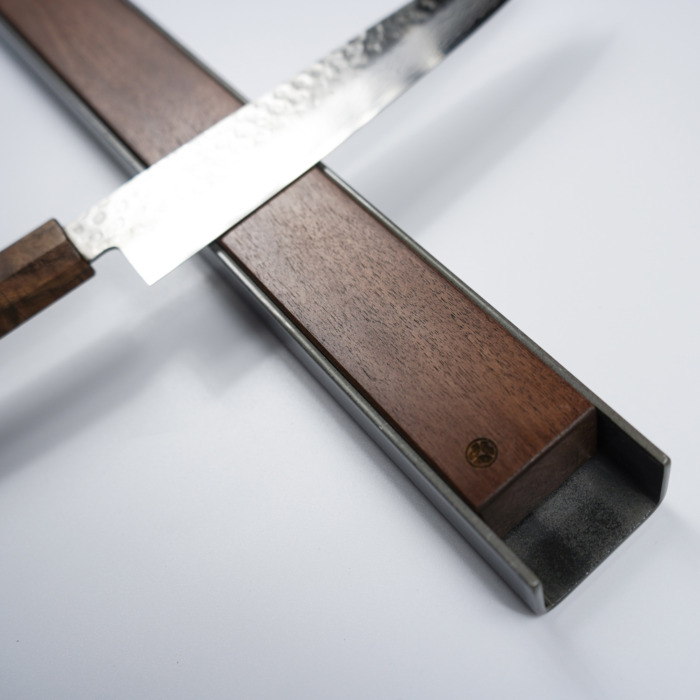 Wall Mounted Magnetic Wood Knife Rack Kitchen Premium wood steel