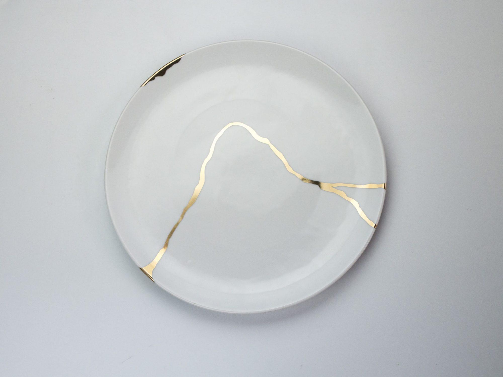 kintsugi dinnerware tableware porcelain bone homedeco japanese