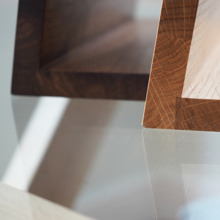 Solid Wood Magnetic Knife Stand Block oak walnut