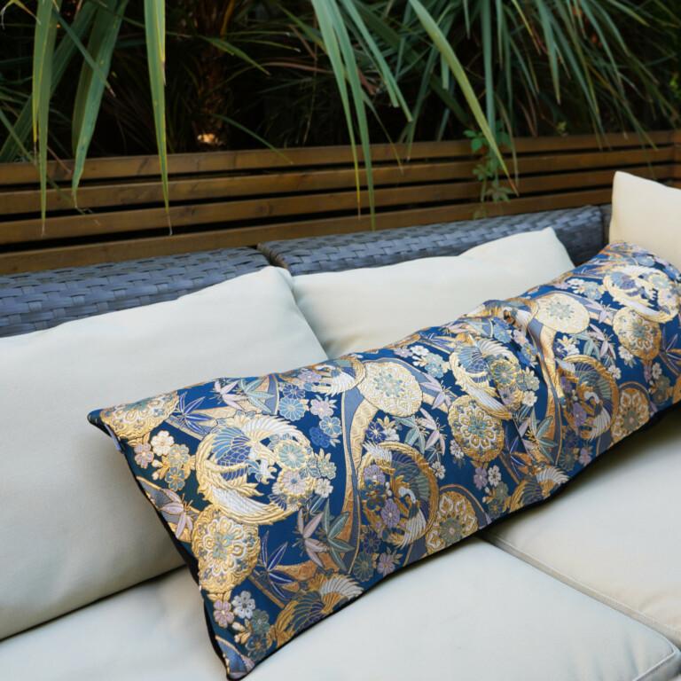 Japanese Kimono Silk Cushion Kinran Limited Edition square 2