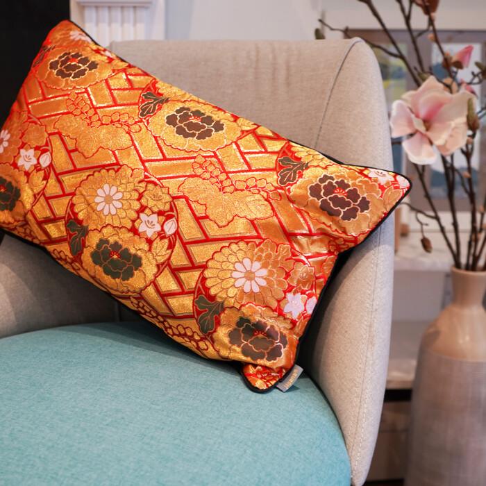 Japanese Kimono Silk Cushion Soraya 2
