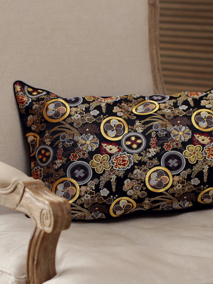 Hana Japanese Kimono Silk Cushion Handmade Luxury Pillow Case Limited Edition 3