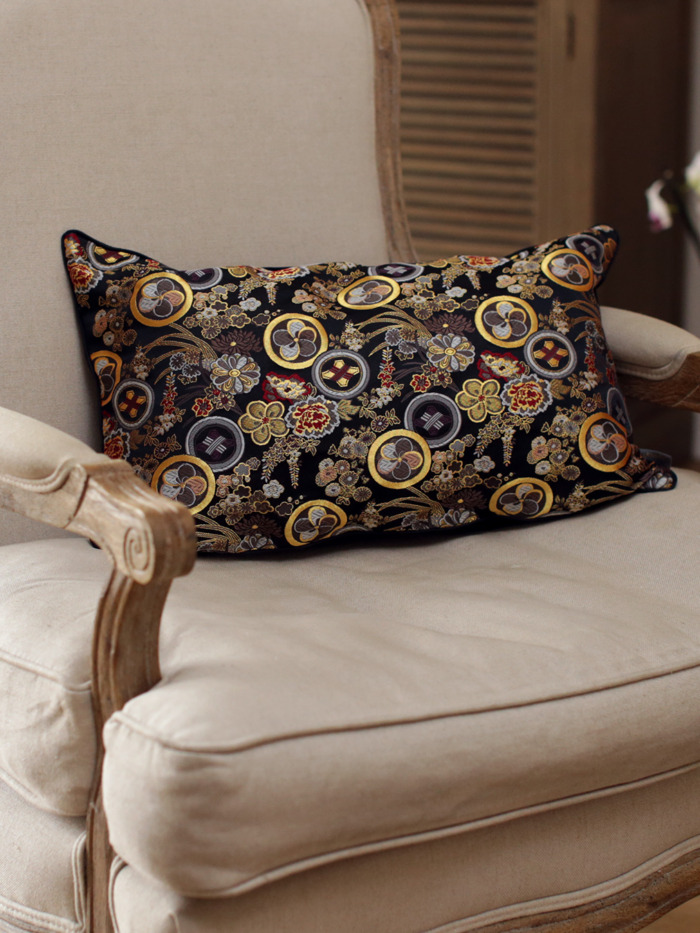 Hana Japanese Kimono Silk Cushion Handmade Luxury Pillow Case Limited Edition