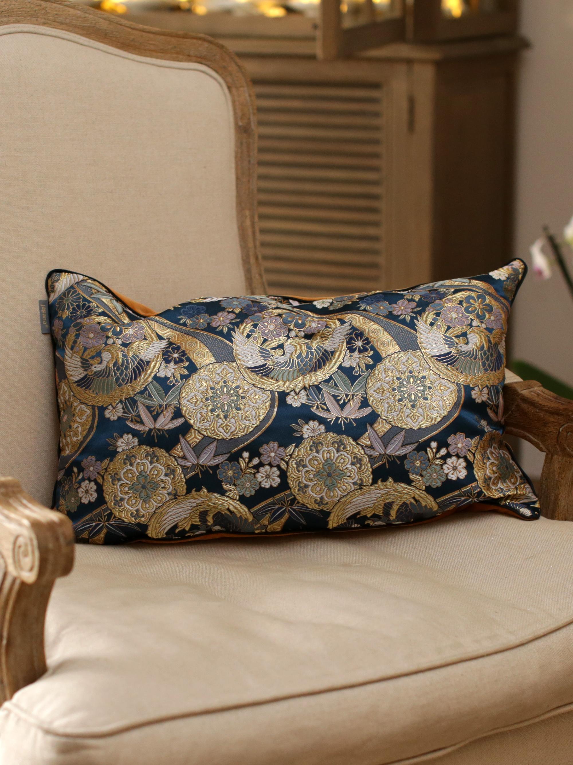 kinran 2 Japanese Kimono Silk Cushion Pillow Case luxury Limited Edition