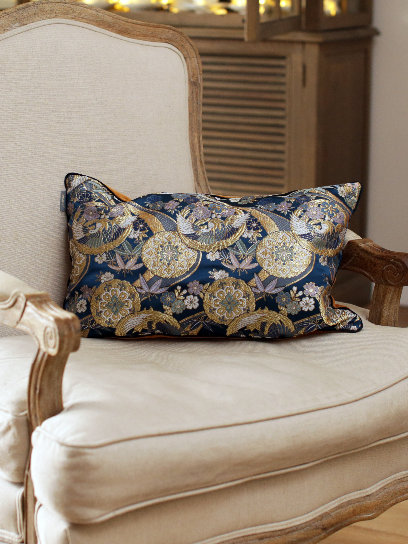 kinran Japanese Kimono Silk Cushion Pillow Case luxury Limited Edition