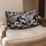 ohayo yoru 2 Japanese Kimono Silk Cushion Pillow Case luxury Limited Edition