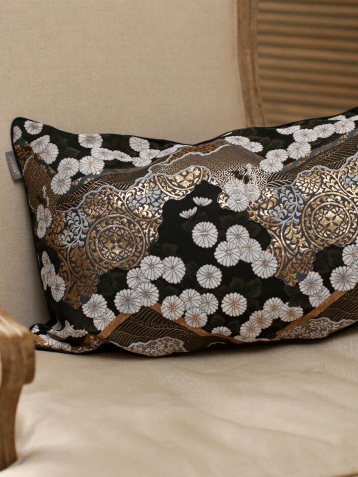 ohayo yoru 3 Japanese Kimono Silk Cushion Pillow Case luxury Limited Edition