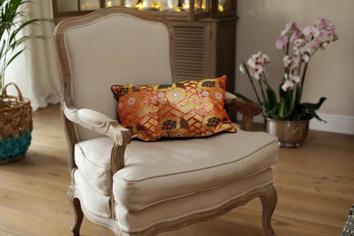 soraya 2 Japanese Kimono Silk Cushion Pillow Case luxury Limited Edition