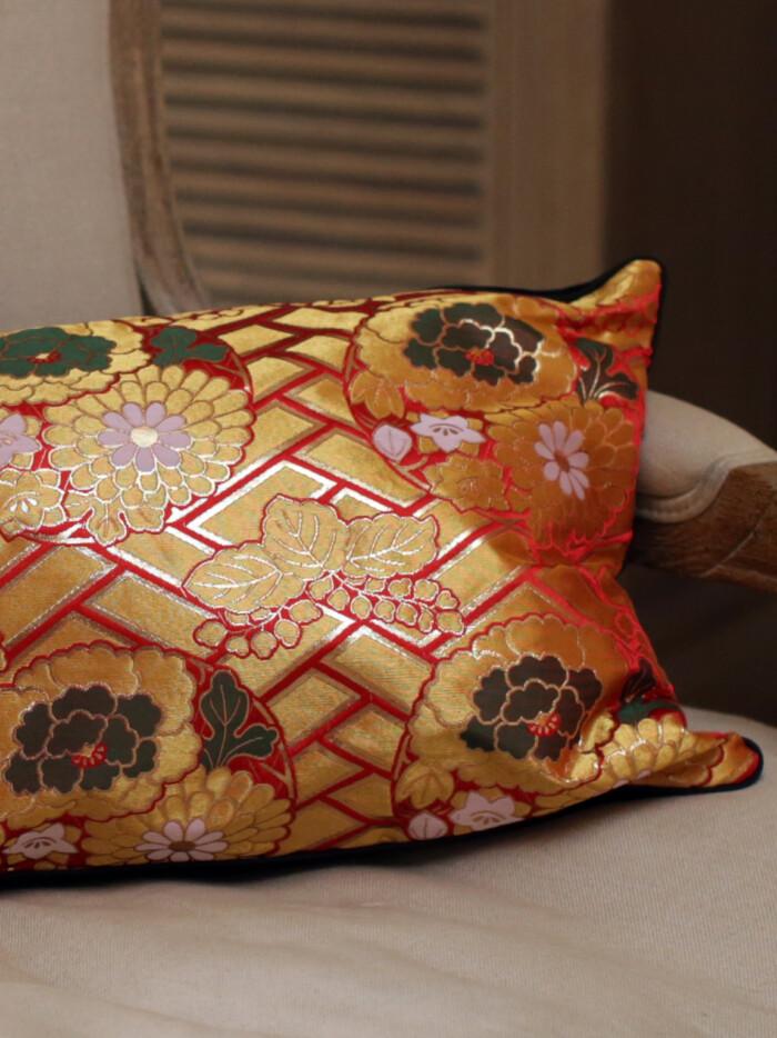 soraya 3 Japanese Kimono Silk Cushion Pillow Case luxury Limited Edition