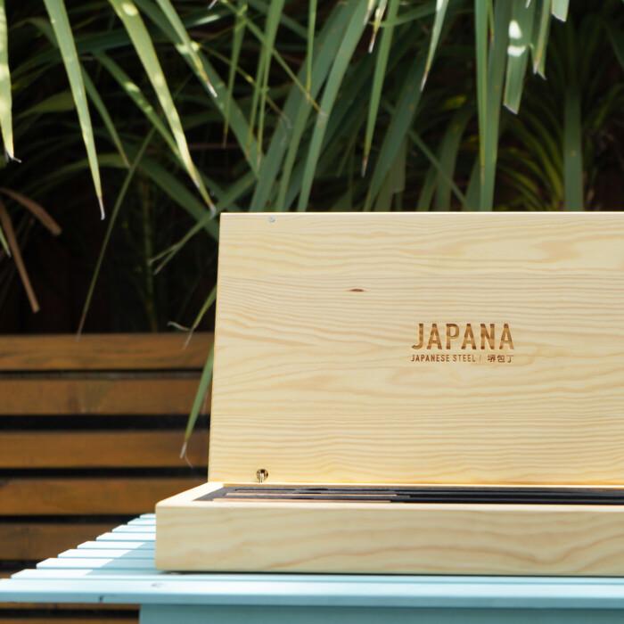 new SAKAI KYUBA JAPANESE DAMASCUS KITCHEN KNIFE SET BY JAPANA 34 5
