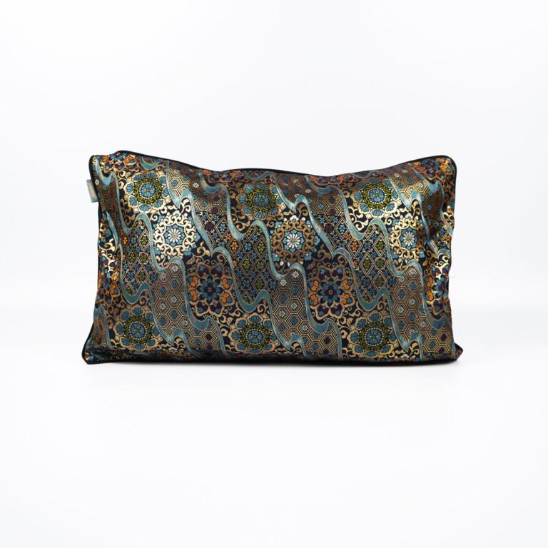 Cushion Cover Kimono Obi Silk Gold Embroidery Vintage Kiku Kikko