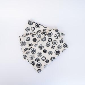 Placemat Japanese Motives – Kamon Crest, Set Of 6, fan spread