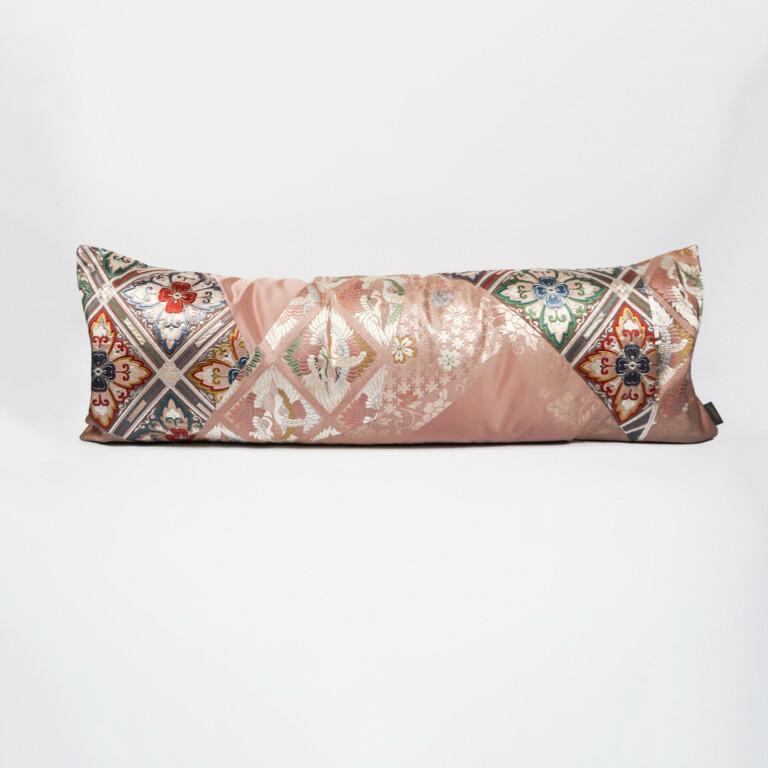 Bolster Cushion Cover Kimono Obi Silk Gold Embroidery Vintage – Tsuru Grand