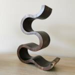 Wooden Wine Rack x 5 Bottles - The Wave - Walnut