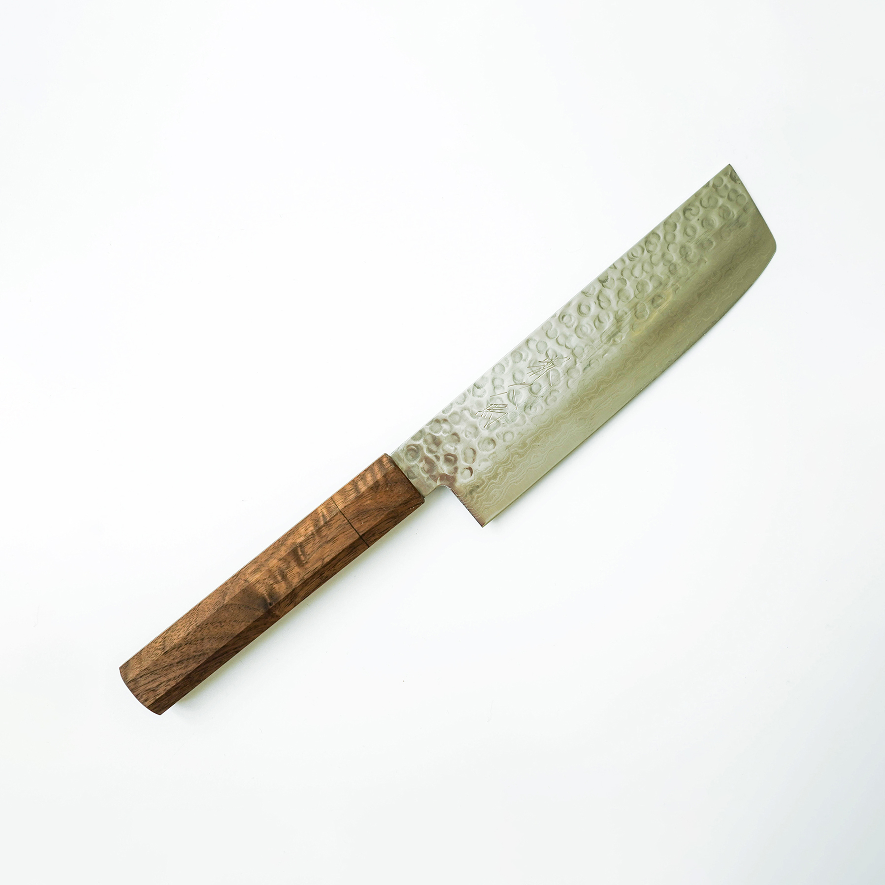 Signature Japanese Kitchen Knives by Sakai Kyuba - Nakiri Veggie Knife 160mm Brown