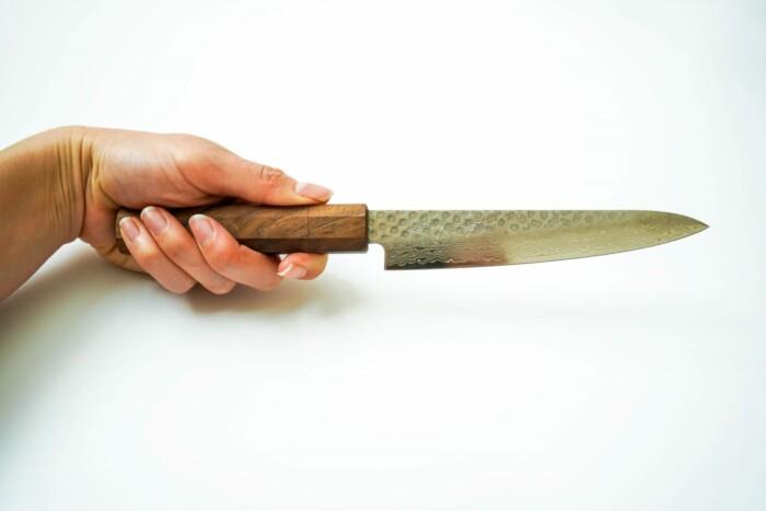 Signature Japanese Kitchen Knives by Sakai Kyuba - Petty Utility 150mm Brown