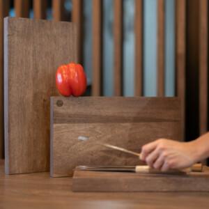 trays oak wooden walnut wooden small medium large hand grabbing knife