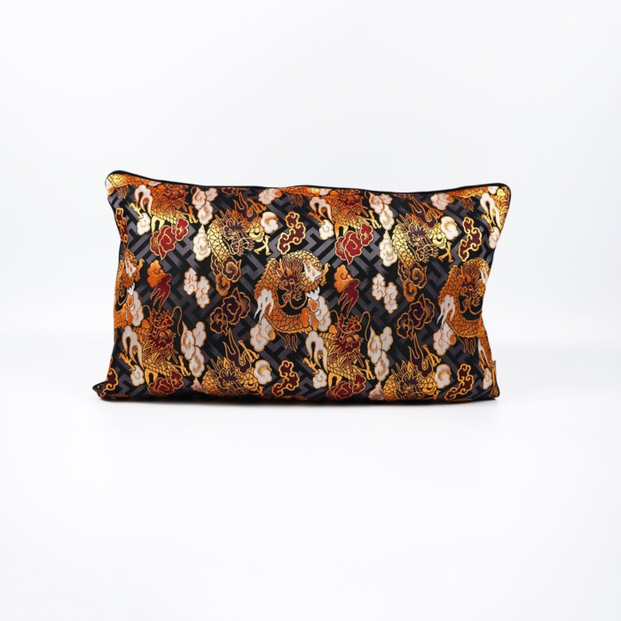 Japanese cushion on white background