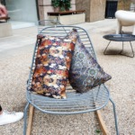 Japanese cushions on chair