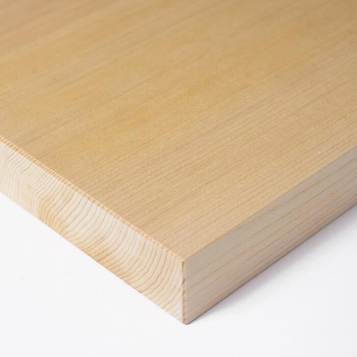aomori hiba kitchen cutting board edge close up
