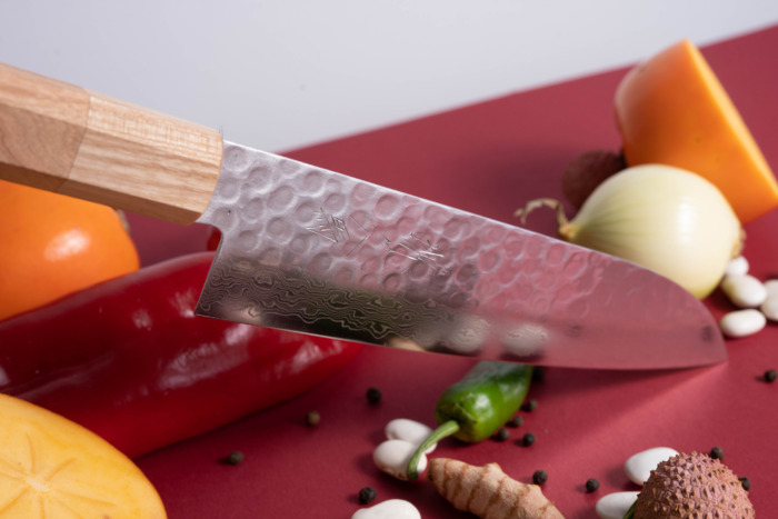 sakai kyuba classic cherry santoku japanese knife chefs daily knife chefs knife
