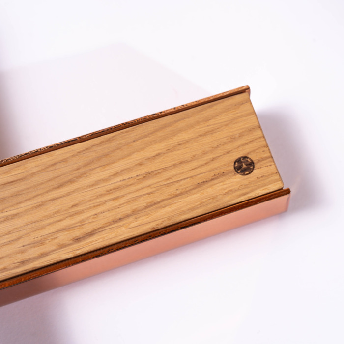 copper wooden high quality cover magnetic kitchen knife rack strip japanese knives oak