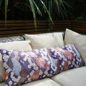 Long kimono japanese cushion cover