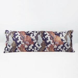 Japanese cushion cover long on white background