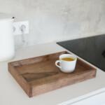 Small Walnut Tray on kitchen countertop