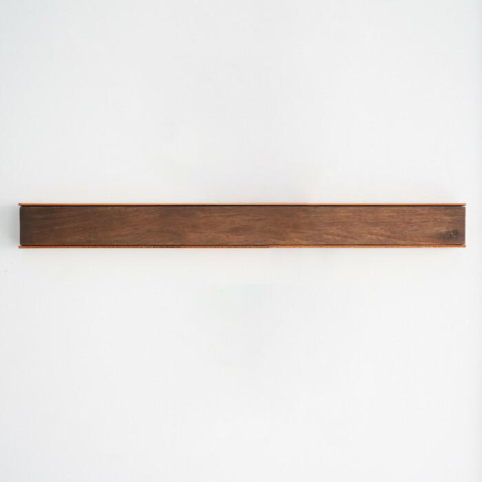 Wall Mounted Magnetic Wood Knife Rack - Walnut Copper 50