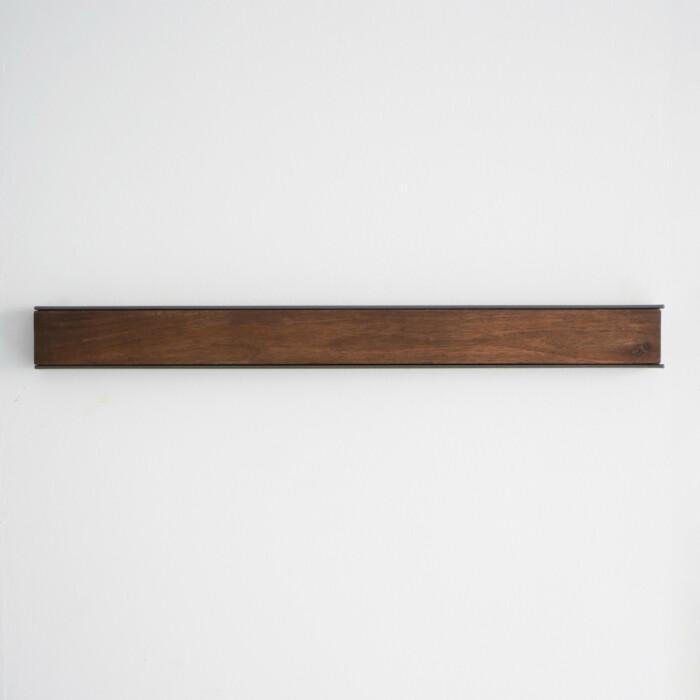 Wall Mounted Magnetic Wood Knife Rack Walnut Steel 50