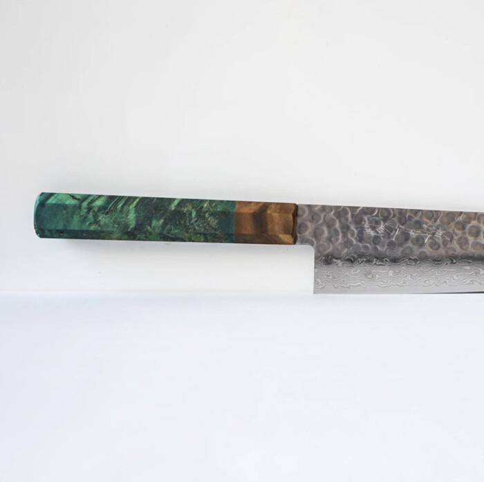 Olive Green handle- Sakai Kyuba knife