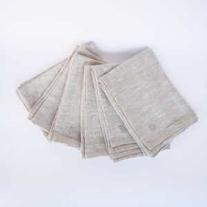 Kitchen Linen Set Of 6 Tea Towels – Natural, fan spread