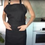 Kitchen Apron – Off Black Linen – Product video