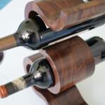 Wooden Wine Rack x 5 Bottles The Wave – Walnut, close-up
