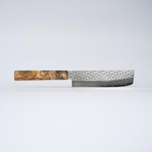 Sakai Kyuba – Vegetable Knife 16cm The Nakiri – Natural Brown
