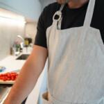 Kitchen Apron - Natural, eyelet